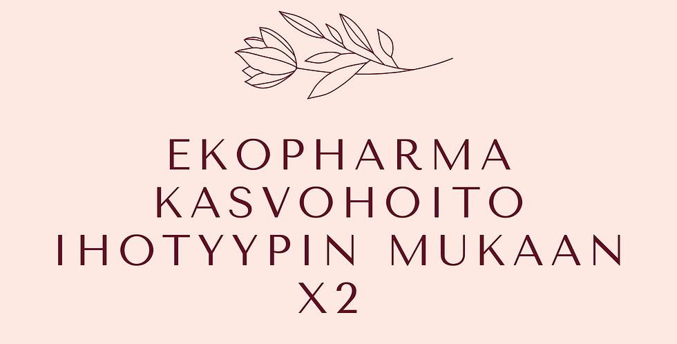 Lahjakortti Ekopharma Kasvohoito ihotyypin mukaan x2