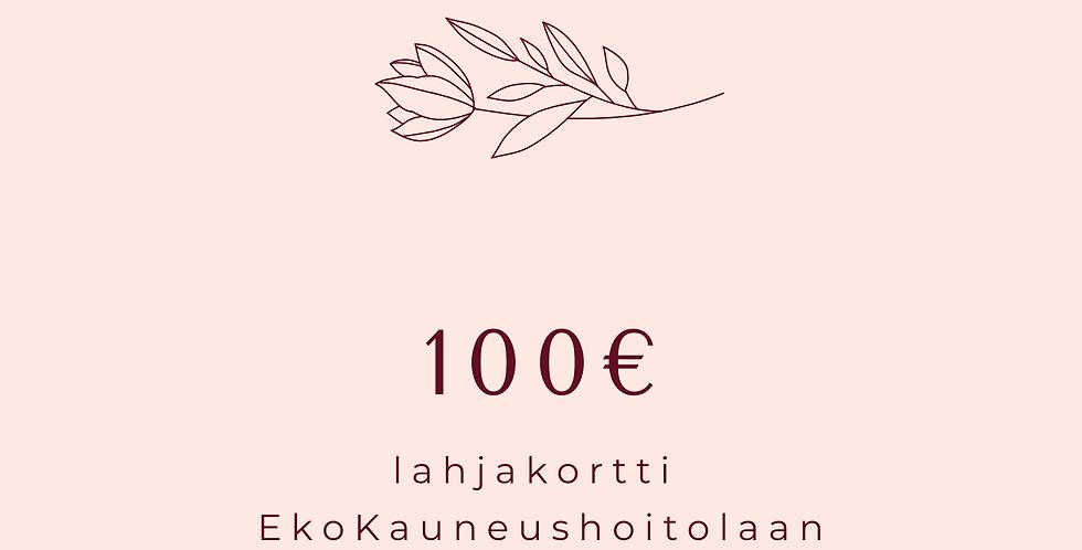 Lahjakortti 100€ Hoitola & Shop karoliinaK