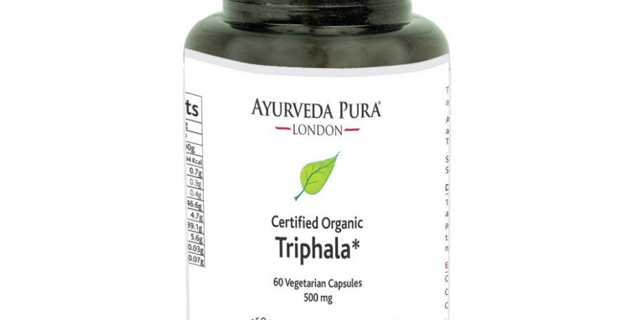 Ayurveda Pura Triphala kapselit Luomu Vegaaninen 60kpl