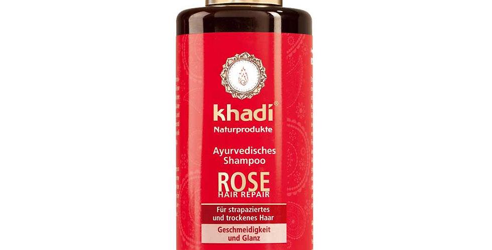 Khadi Rose Shampoo Vaurioituneille ja Käsitellyille Hiuksille 200ml