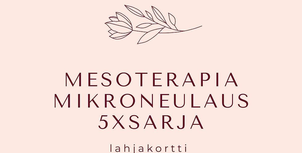Lahjakortti Mesoterapia Mikroneulaus Sarja X 5
