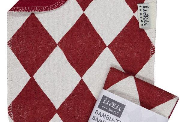"""Kierti Bambu- tiskirätti""""Salmiakki"""" punainen"""