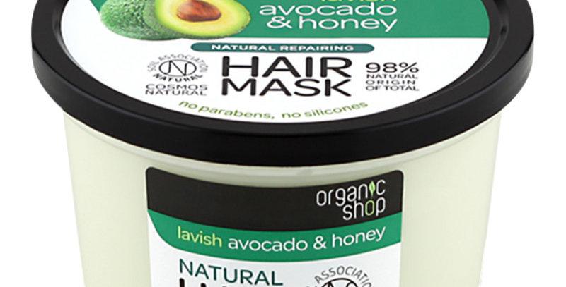 Organic Shop Avocado&Honey Korjaava Hiusnaamio 250ml