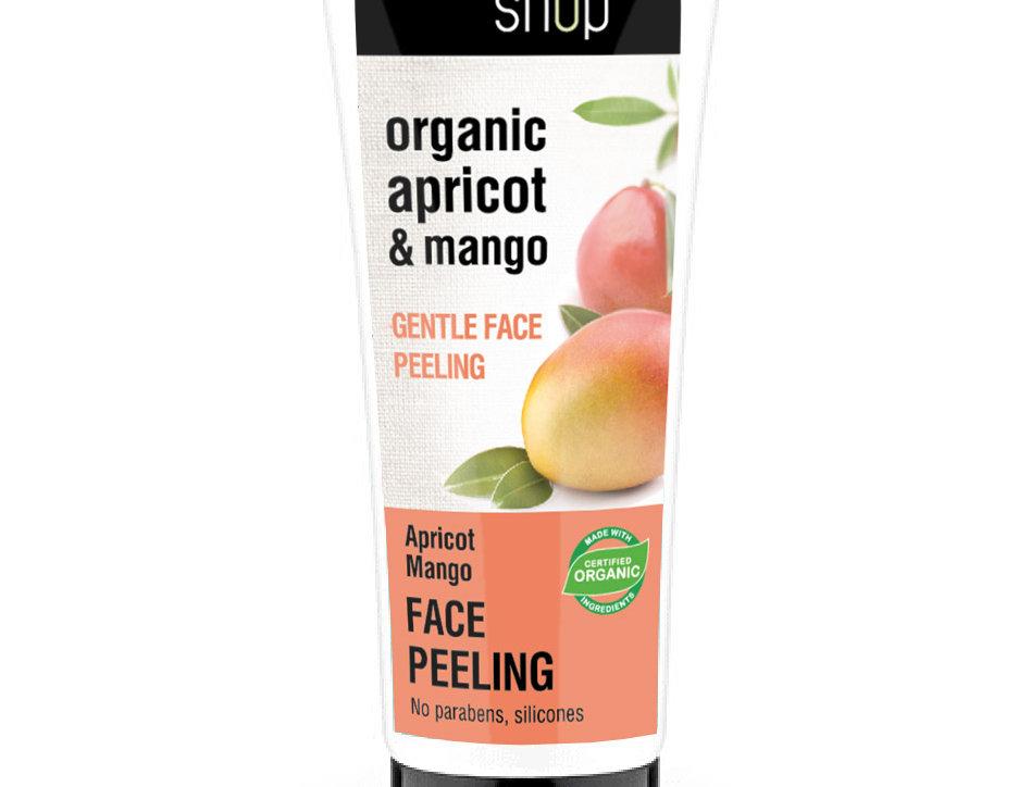 Organic Shop Hellävarainen mango-aprikoosi kasvokuorinta 75 ml