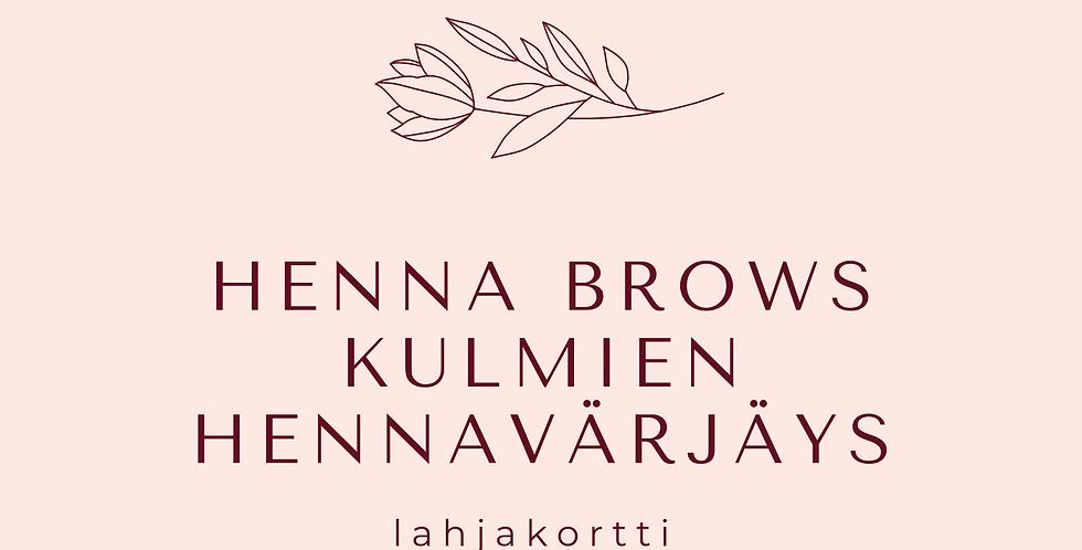 Lahjakortti Kulmien Hennavärjäys Brow Henna Natural