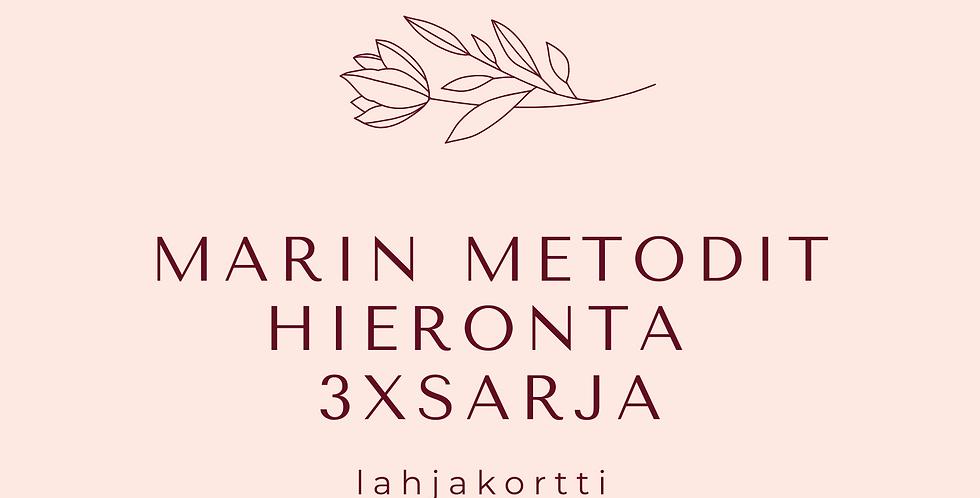Lahjakortti 3xMarinMetodit-hieronta