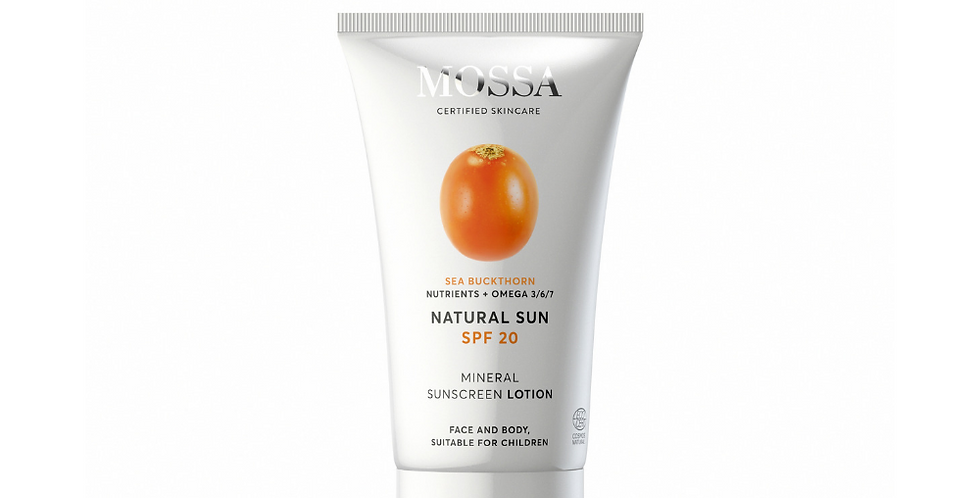 MOSSA Natural Sun – Aurinkoemulsio SPF20 100ml