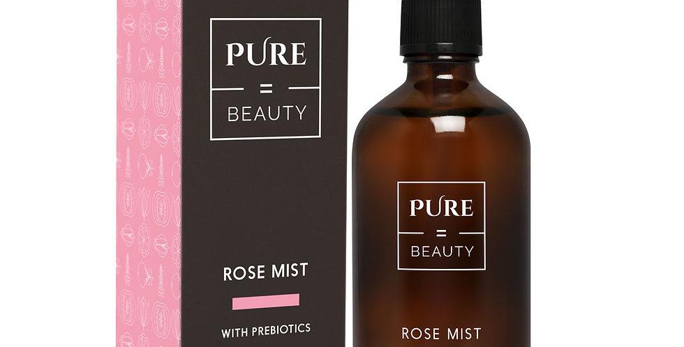 Pure is Beauty Rose mist +Prebiotics ruusuvesi kasvoille, sis. Probiootteja 100m