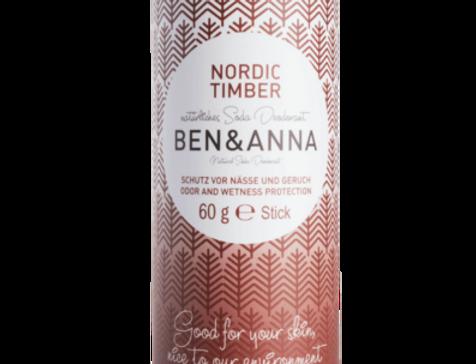 Ben&Anna Nordic timber Deodorantti- papertube 60g