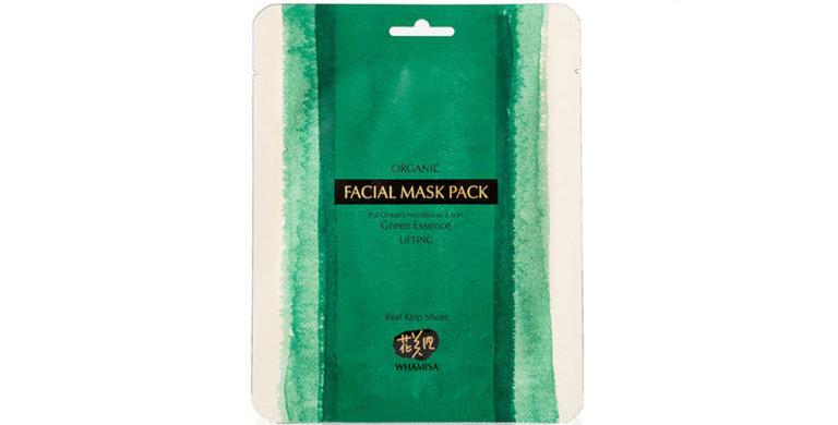 WHAMISA Organic Kelp Sheet Mask – kaikille ihotyypeille 33g