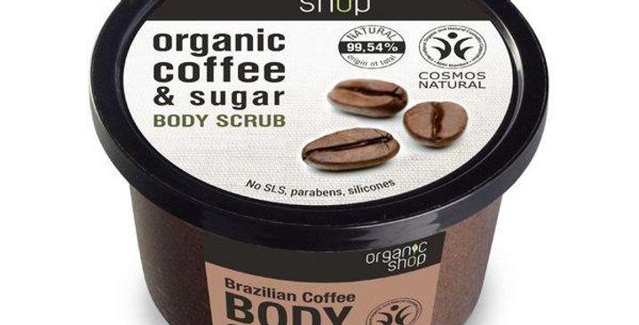 Organic Shop Brazilian Coffee Sugar Body Scrub vartalokuorinta 250ml