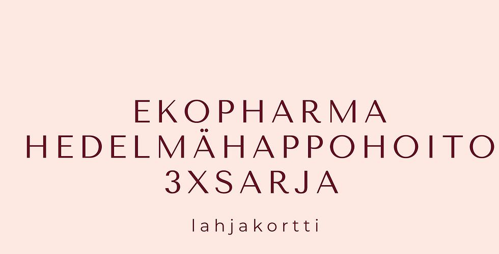 Lahjakortti EKOPHARMA Hedelmähappohoitosarja 3X