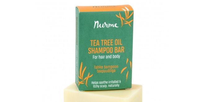 NurmeTea Tree Shampoo Bar Teepuu Shampoopala kutisevalle päänahalle