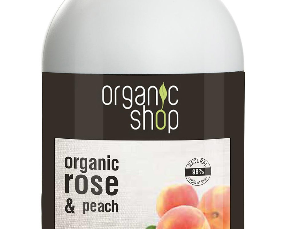 Organic Shop käsisaippua rose & peach 500ml