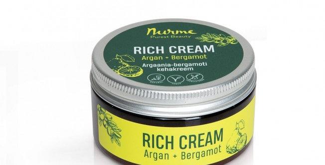 Nurme Argan & Bergamotti Rich Cream 100ml