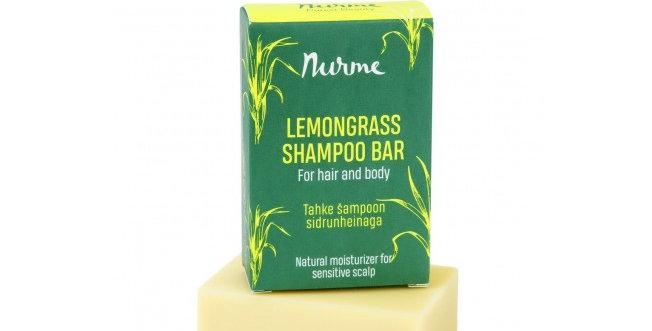 Nurme Lemongrass Shampoo Bar Shampoopala rauhoittava sitruunaruoho