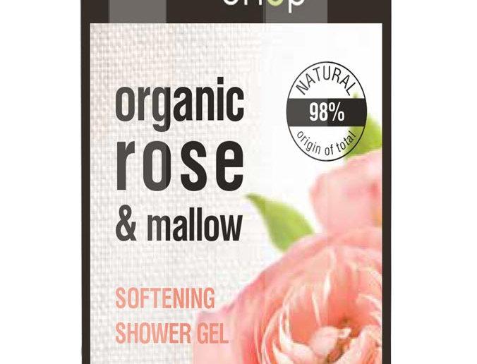Organic Shop suihkugeeli Rose & mallow 280 ml
