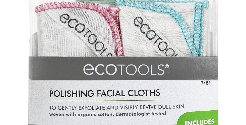 Ecotools polishing facial cloths kasvojenpuhdistusliinat