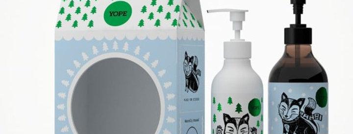 YOPE Käsienhoitopakkaus Winter Forest 500ml+300ml