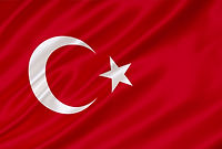 Waving flag of Turkey. Flag Turkey. Turk