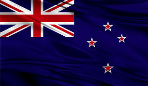 Realistic flag of Flag of New Zealand on