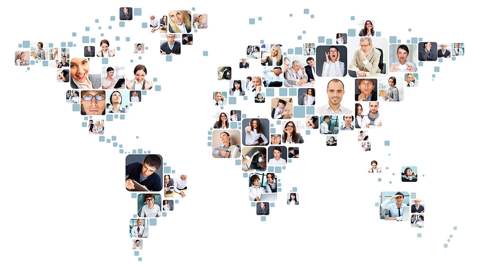 Collection of different people portraits placed as world map shape.jpg