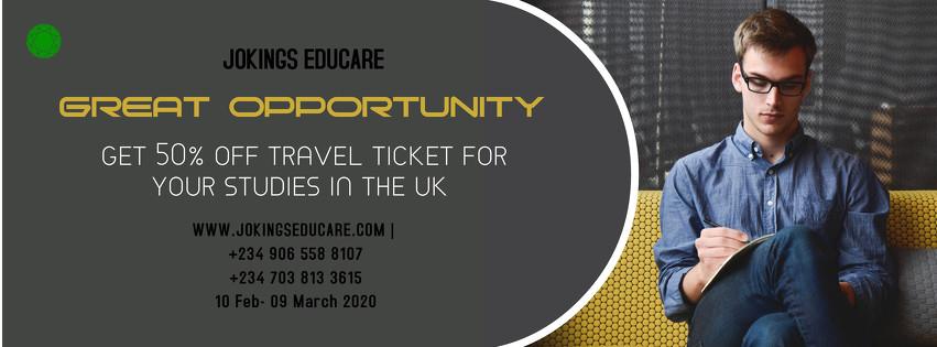50% Flight Ticket Discount