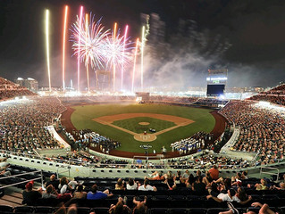 What schools have the most College World Series baseball titles?
