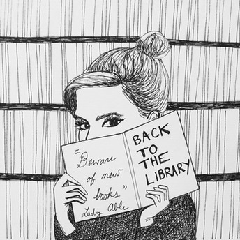 EMMA WATSON, BACK TO THE LIBRARY