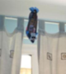 Birthday shoe - curtain rail.jpg