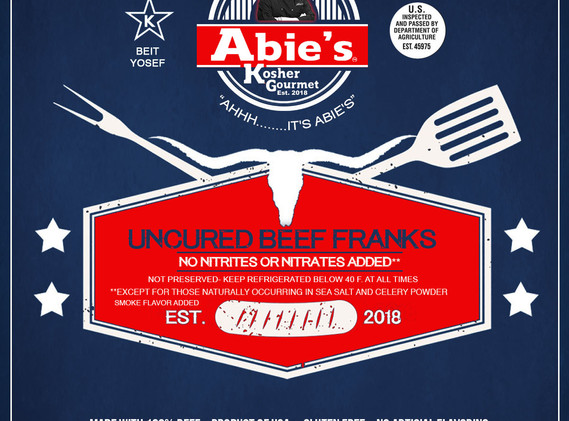 Abie's Original Uncured Franks Label