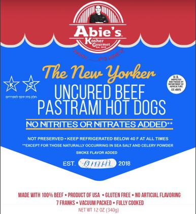 "Uncured Beef ""Pastrami"" flavored Franks (CONCEPT)"