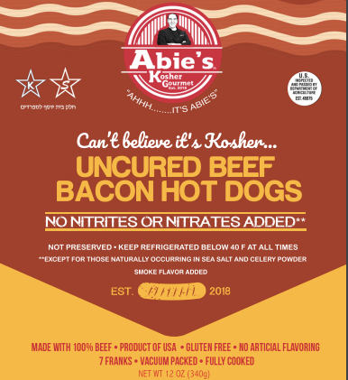 """Abie's Uncured Beef """"Bacon"""" Flavored Franks (CONCEPT)"""