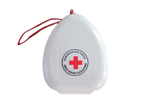 Red Cross - CPR Mask with 02 Inlet