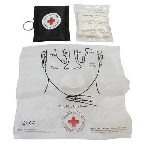 CPR Key Chain Mask and Gloves - BLACK