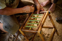 Rodolfo the bamboo master showing the st