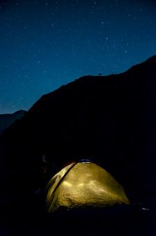 Camping Beneath the Lone Tree