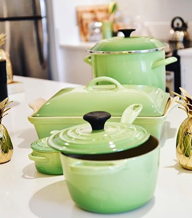 Le Creuset all the way. We go all out wh