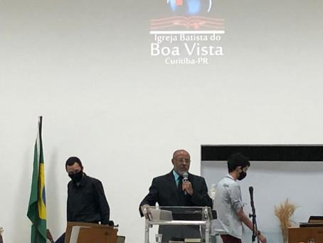 Culto de domingo na Igreja Batista Bíblica do Boa Vista