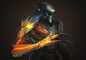 Space Alien Soldier Power Armor Concept Art