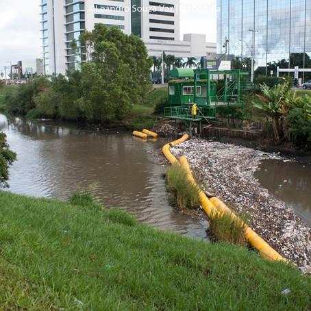 Ecobarreira do Dilúvio ultrapassa as 700 toneladas de lixo coletadas
