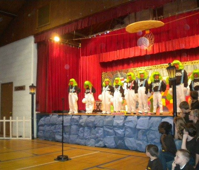 Orbs with Children at a School Play