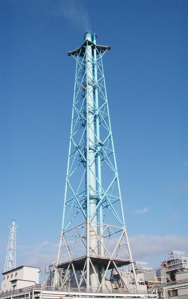 鉄塔形式 鋼製煙突
