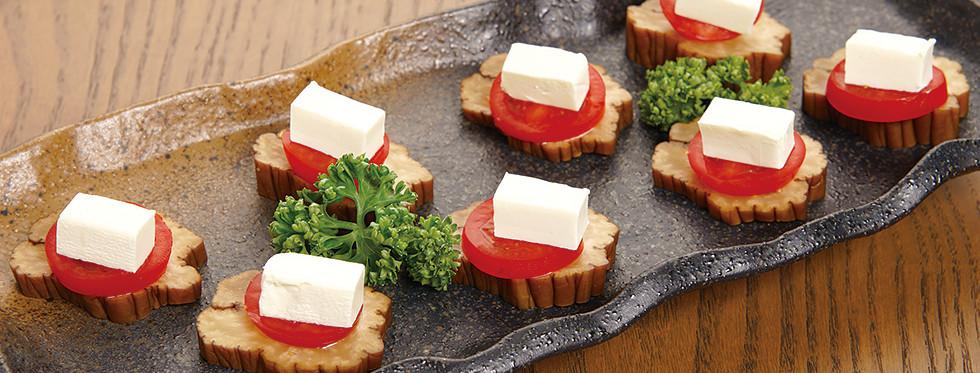 クリームチーズのいぶりがっこ