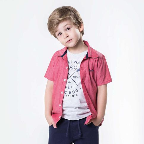 29242 - conj camisa de tricoline maquine