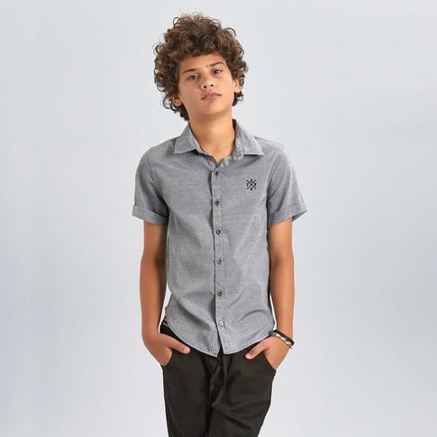35942 - Camisa em tricoline maquinetada.