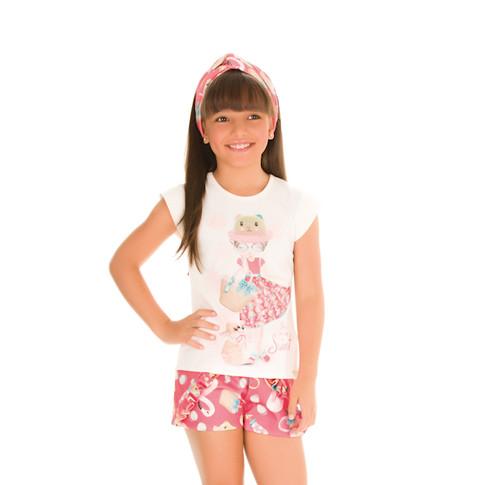 36885 - conj blusa em cotton e shorts em