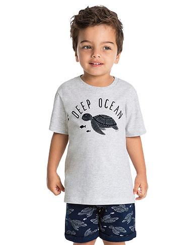 10914 - conjunto camiseta malha e bermud