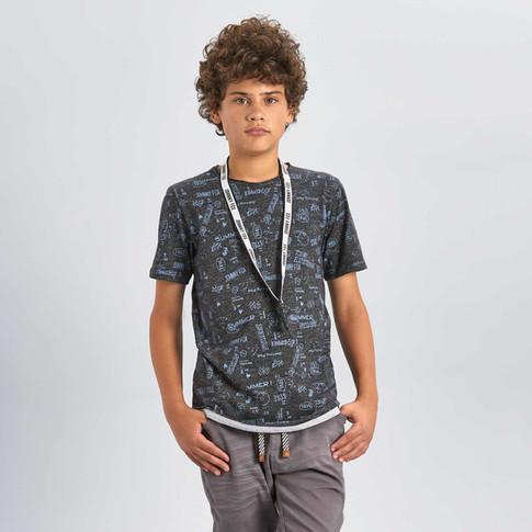 35923 - Camiseta em malha craft com esta