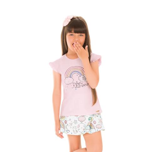 36883 - conj blusa em cotton e short sai